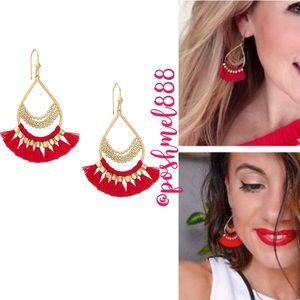 :: Stella & Dot Roman [RED] Chandeliers Earrings
